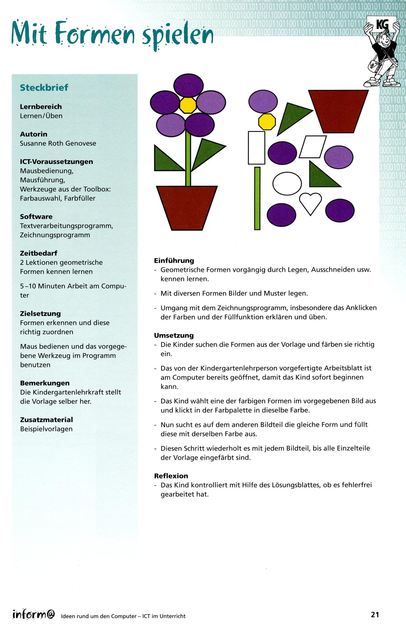 Kindergarten | Medien und Informatik im Unterricht