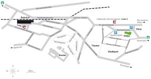 Lageplan PHSG Hadwig, St.Gallen